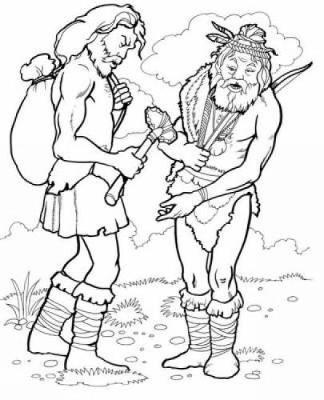 Prehistoric Man Coloring Book - Dover History Coloring Book (Paperback)