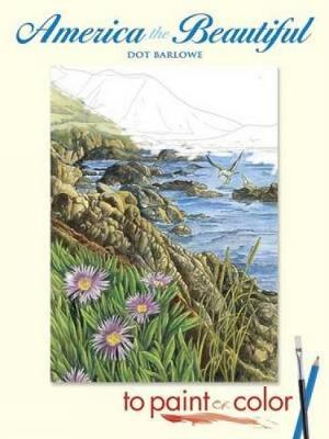 America the Beautiful to Paint or Color - Dover Art Coloring Book (Paperback)
