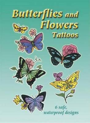 Butterflies and Flowers Tattoos - Dover Tattoos (Paperback)