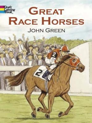 Great Race Horses: Coloring Book - Dover Nature Coloring Book (Paperback)