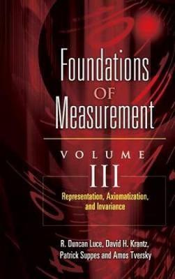 Representation, Axiomatization, and Invariance - Dover Books on Mathematics 3 (Paperback)