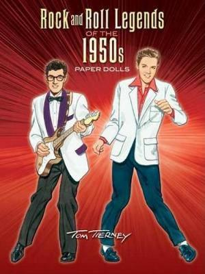Rock and Roll Legends of the 1950s Paper Dolls - Dover Celebrity Paper Dolls (Paperback)