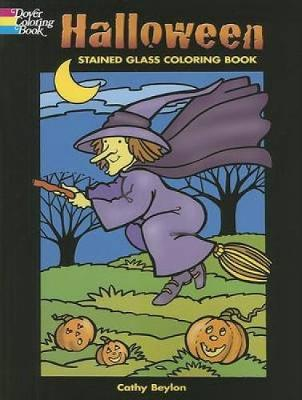 Halloween Stained Glass Coloring Book - Holiday Stained Glass Coloring Book (Paperback)