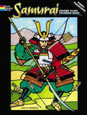Samurai Stained Glass Coloring Book - Dover Stained Glass Coloring Book (Paperback)