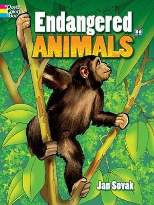Endangered Animals - Dover Nature Coloring Book (Paperback)