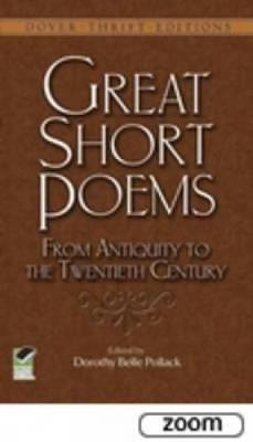 Great Short Poems from Antiquity to the Twentieth Century - Dover Thrift Editions (Paperback)