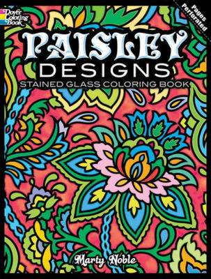 Paisley Designs Stained Glass Coloring Book - Dover Design Stained Glass Coloring Book (Paperback)
