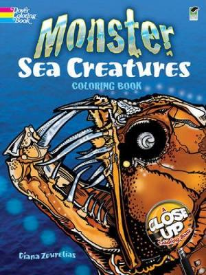 Monster Sea Creatures Coloring Book - Dover Nature Coloring Book (Paperback)