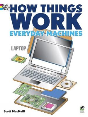 How Things Work - Everyday Machines Coloring Book (Paperback)