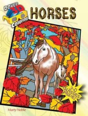 3-D Coloring Book - Horses - Dover 3-D Coloring Book (Paperback)
