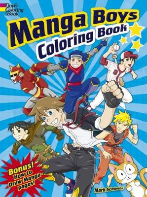 Manga Boys Coloring Book - Dover Coloring Books (Paperback)
