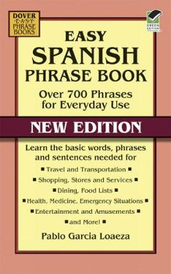 Easy Spanish Phrase Book NEW EDITION - Dover Large Print Classics (Paperback)