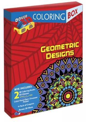 Geometric Designs 3-D Coloring Box - Dover Fun Kits (Paperback)
