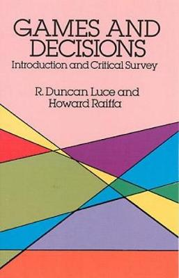 Games and Decisions - Dover Books on Mathematics (Paperback)