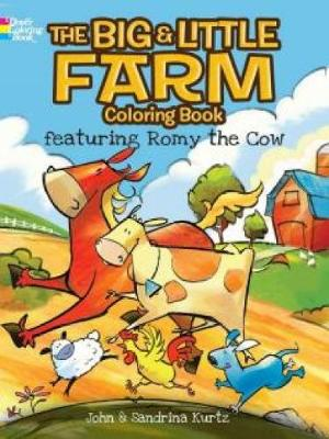 The Big & Little Farm Coloring Book: featuring Romy the Cow (Paperback)