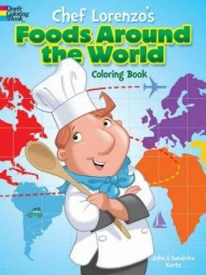 Chef Lorenzo's Foods Around the World Coloring Book (Paperback)