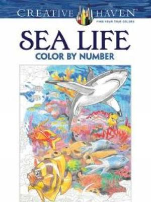 Creative Haven Sea Life Color by Number Coloring Book - Creative Haven Coloring Books (Paperback)