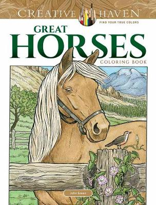 Creative Haven Great Horses Coloring Book (Paperback)