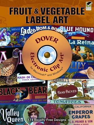 Fruit and Vegetable Label Art - Dover Electronic Clip Art