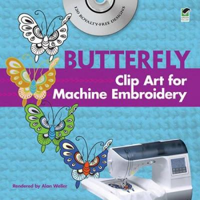 Butterfly Clip Art for Machine Embroidery - Dover Clip Art Embroidery