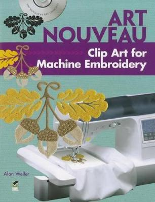 Art Nouveau Clip Art for Machine Embroidery - Dover Clip Art Embroidery