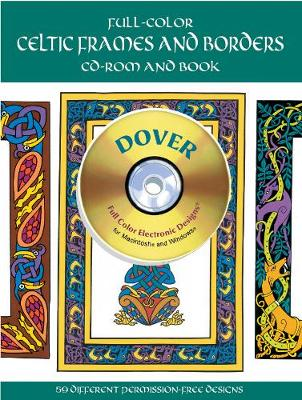 Full-Color Celtic Frames and Borders CD-ROM and Book (Paperback)