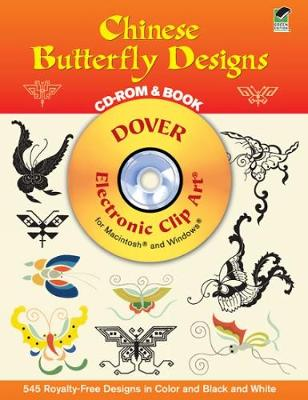 Chinese Butterfly Designs - Dover Electronic Clip Art