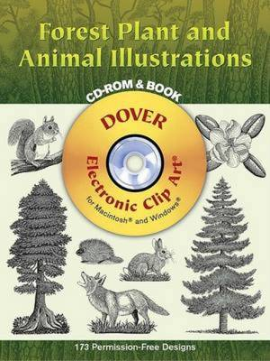 Forest Plant and Animal Illustrations - Dover Electronic Clip Art