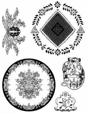 French Provincial Designs - Dover Electronic Clip Art