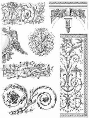 French Decorative Designs of the 18th Century - Dover Electronic Design S.