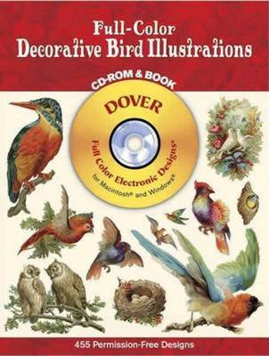 Full-Color Decorative Bird Illustra