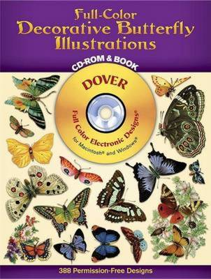 Decorative Butterfly Illustrations (Paperback)