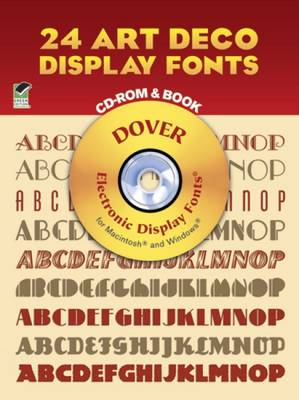 24 Art Deco Display Fonts - Dover Electronic Clip Art (Paperback)