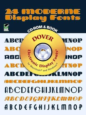 24 Moderne Display Fonts - Dover Electronic Clip Art (Paperback)