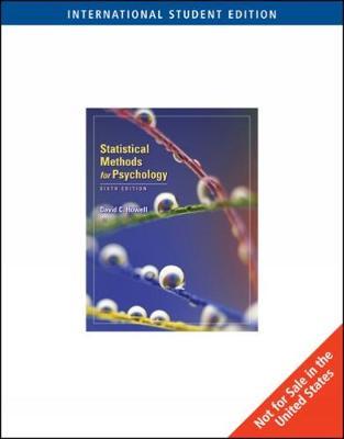 Statistical Methods for Psychology, International Edition (Paperback)