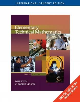 Elementary Technical Mathematics (Paperback)