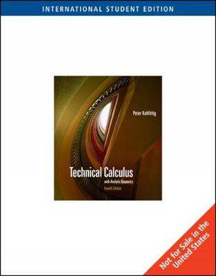 Technical Calculus with Analytic Geometry, International Edition (Paperback)