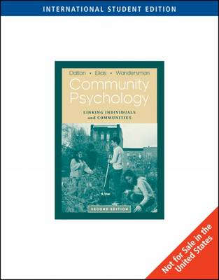 Community Psychology: Linking Individuals and Communities (Paperback)