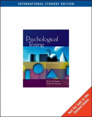 Psychological Testing: Principles, Applications, and Issues, International Edition (Paperback)