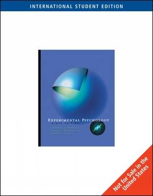 Experimental Psychology (Paperback)