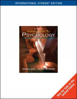Introduction to Psychology: Gateways to Mind and Behavior, International Edition (Paperback)