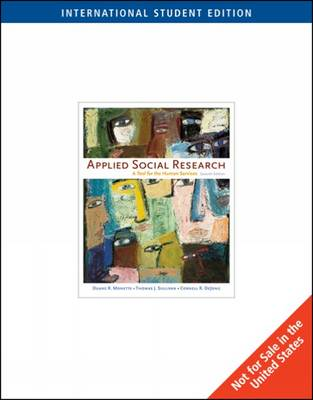 Applied Social Research: A Tool for the Human Services (Paperback)