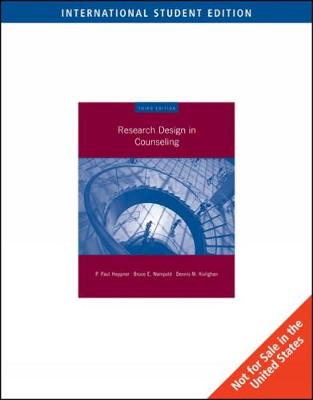 Research Design in Counseling, International Edition (Paperback)