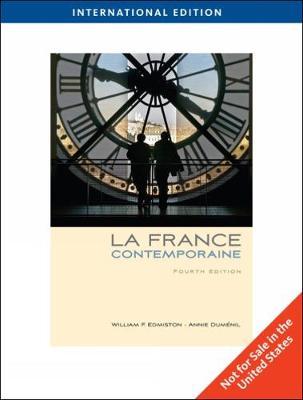 La France contemporaine, International Edition (Paperback)