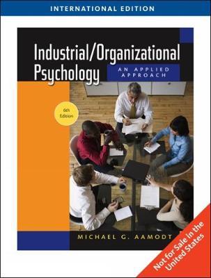 Industrial/Organizational Psychology (Paperback)