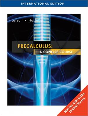 Precalculus: A Concise Course (Paperback)