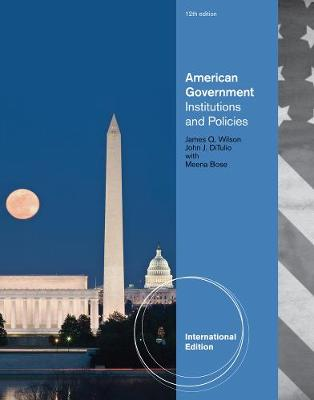 American Government: Institutions and Policies, International Edition (Paperback)