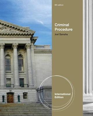 Criminal Procedure, International Edition (Paperback)