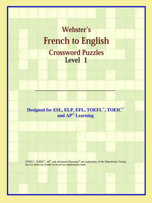 Webster's French to English Crossword Puzzles: Level 1 (Paperback)