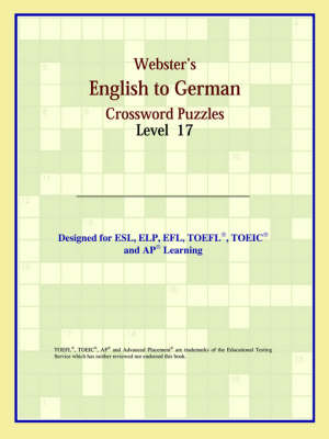 Webster's English to German Crossword Puzzles: Level 17 (Paperback)
